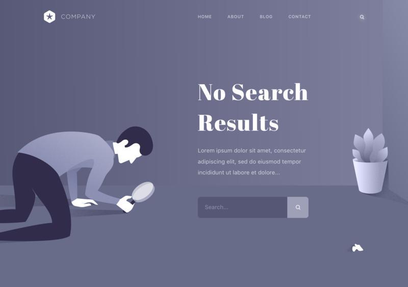 【第2期】11款网页404页面模板sketch下载